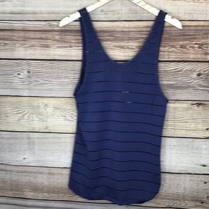 Athleta Max Out Chi Top M Blue *without Bra* 0824